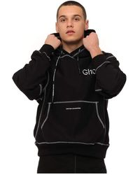 United Standard Sweatshirt Blk001 Hooded Ghost - Zwart