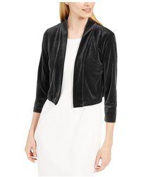 Hurley Jacket Velvet Shrug Open-Front - Noir
