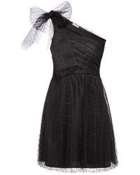 RED Valentino One-shoulder Lace Dress - Zwart