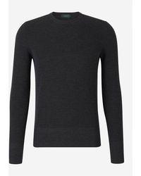 Zanone Jersey Flex-wool Sweater - Zwart