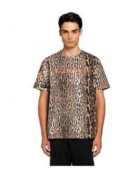 Roberto Cavalli Sport Tshirt Estampado Ocelot - Bruin