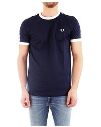 Fred Perry M6347 T-shirt Men Blue - Blauw