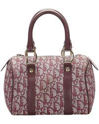Dior Dior Oblique Canvas Boston Bag - Rosso