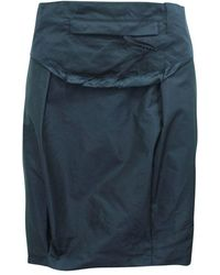 Prada Black Skirt With Belt - Zwart