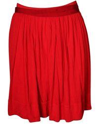 Céline Vintage Jupe plissée - Rouge