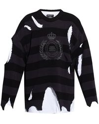 Balenciaga Sweater With Logo - Zwart