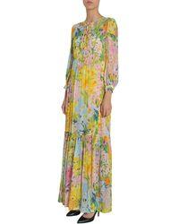 Boutique Moschino Long Dress Amarillo - Multicolor