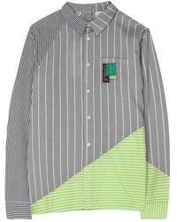 Daily Paper Striped Hadee Shirt - Grijs