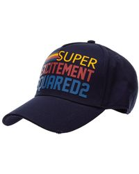 DSquared² Adjustable Men's Cotton Hat Baseball Cap Baseball - Blauw