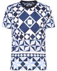 Dolce & Gabbana - T-shirt Met Print - Lyst