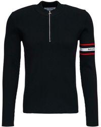Marine Serre Sweater with logo - Noir