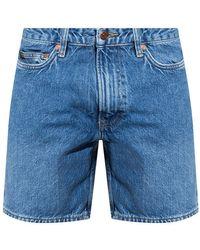 Samsøe & Samsøe Denim Shorts From Organic Cotton - Blauw