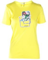 Carven Chair Embellished T-shirts - Giallo