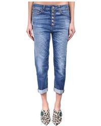 Dondup Jeans Boy-friend Modello Koons Gioiello - Blauw