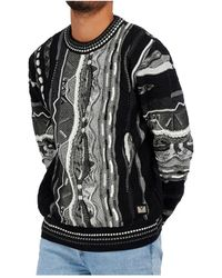 carlo colucci Knitwear Sweatshirt - Zwart