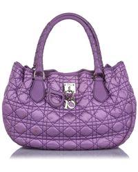 Dior Cannage Lovely Nylon Handbag - Viola