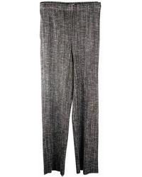 Issey Miyake Pantalons plissés d'occasion - Noir