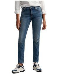 GANT Farla super stretch jeans - Bleu