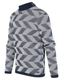 BLUE INDUSTRY Pullover Zigzag Kbiw19-m25 - Blauw