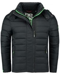 Superdry Fuji Double Zip Hood Jacket - Grijs