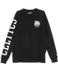 Burberry T-shirt Nba Team Apparel Ls Tee Boscel - Zwart