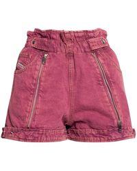 DIESEL De-kunap-sp1 Denim Shorts - Roze