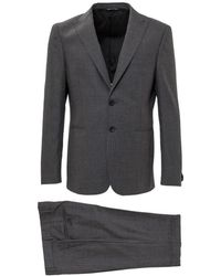Tonello Suit With Embroidery - Grijs