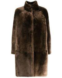 Peserico Reversible faux-fur coat - Marrone