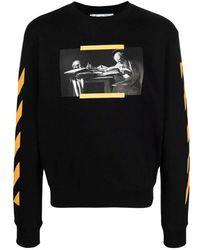 Off-White c/o Virgil Abloh T-shirt With Long Sleeves - Zwart