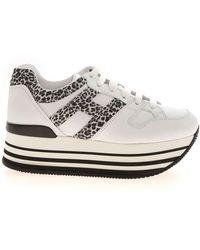 Hogan Maxi Platform H283 Sneakers - Wit