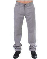 Gianfranco Ferré Stretch Regular Straight Fit Pants - Grijs