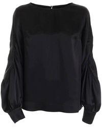 Versace Blousa Silk - Zwart