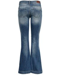ONLY Flared Jeans Jo Reg Destroyed - Blauw