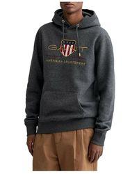 GANT Archive shield hoodie - Gris