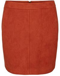 Vero Moda - Vmdonnadina Faux Suede Short Skirt - Lyst