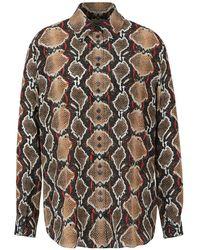 Burberry Snake Silk Shirt - Bruin