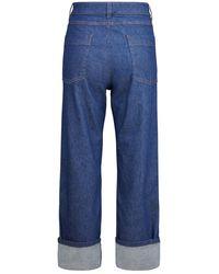 Barena Highwaisted-Jeans - Bleu