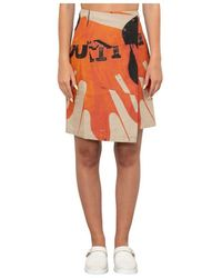 Our Legacy Asymmetrical Wrap Skirt - Oranje
