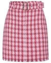 Pinko Accurato Macrocheck Miniskirt - Roze