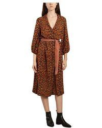 Bellerose Armory Leopard Print Dress - Bruin