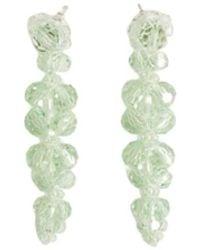 Simone Rocha Cluster Drip Earring - Groen