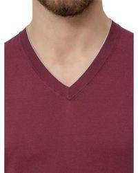 Brunello Cucinelli V-neck sweater - Rosso