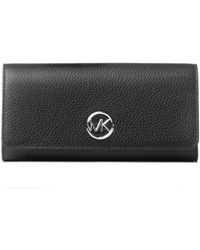 Michael Kors Fulton Flap Continental Wallet - Zwart
