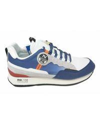 North Sails Scarpe sneaker rw/03 watercraft in suede/tessuto us21ns05 - Bleu