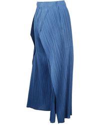 Issey Miyake Pantaloni Azul
