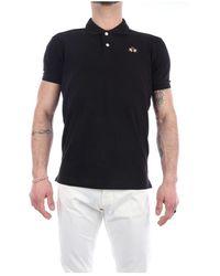 La Martina Ccmp02-pk001 short sleeves polo - Nero