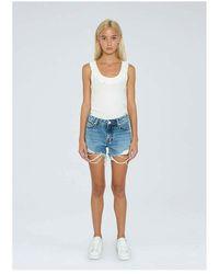 Pepe Jeans Thrasher Destroy Shorts Azul