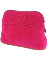 Hermès Bolide Trousse de Voyage Cotton Pouch Fabric Cotton - Rosa