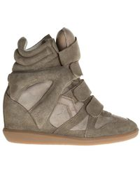 Isabel Marant Wedge 'beckett' Sneakers - Groen