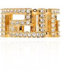 Versace Appliquéd Ring - Metallic
